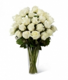 24 Long Stemmed White Roses
