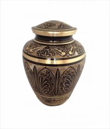 Brass & Ebony Urn I